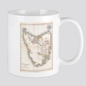 Vintage Map of Tasmania (1837) Mugs